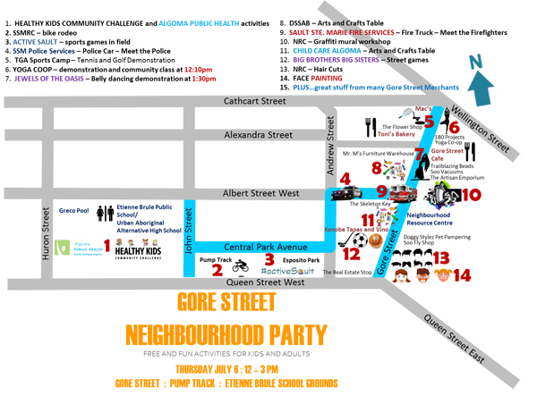 Gore Street Party Map