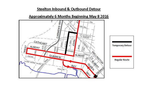 Steelton Bus Detour