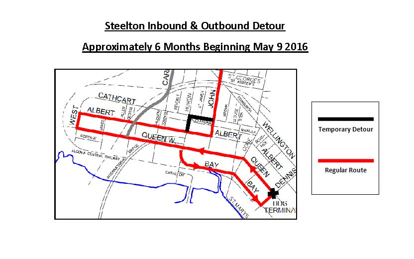 Steelton Inbound and Outbound Detour