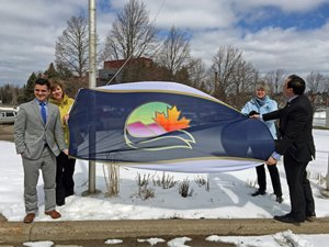 Mayor and Councillors with City Flag